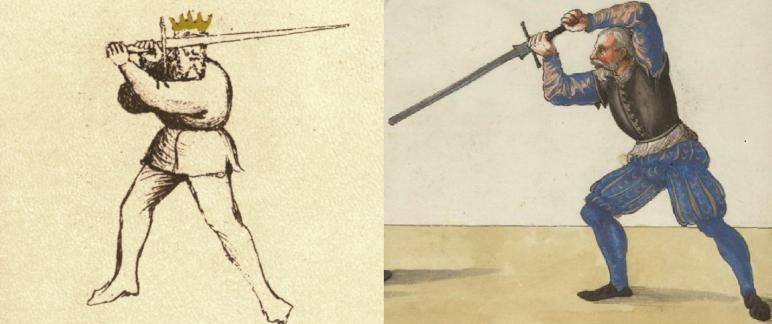 Posta de Fenestra (left), Ox (Ochs) Guard (right)